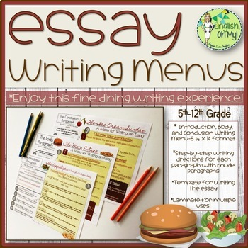 Writing Menus, Essay Writing, Introduction, Body  Conclusion