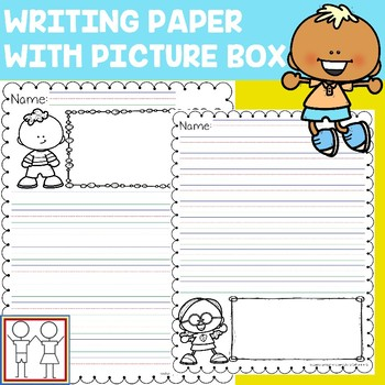 Lined Paper With Picture Box Teaching Resources Teachers Pay Teachers - lined paper with drawing box