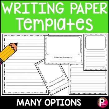 Writing Paper Template by Miss P\u0027s Style Teachers Pay Teachers
