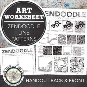 Zendoodle Printable Art Handout Doodling Line Based Patterns TpT