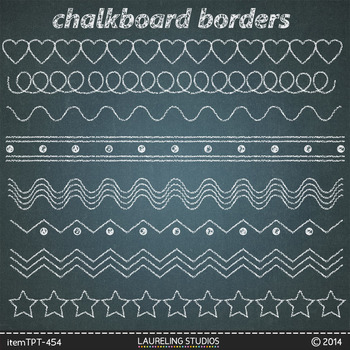 clipart chalk borders with jpg chalkboard backgrounds by DigiPopShop - chalk borders