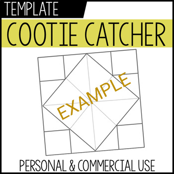 cootie catcher template personal + commercial use TpT