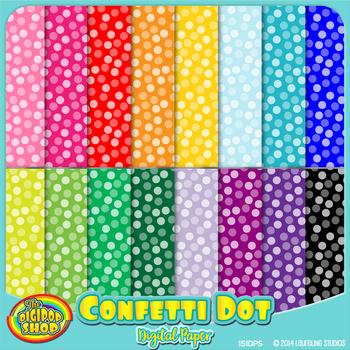 digital paper with confetti dot pattern - printable jpg pattern 12\
