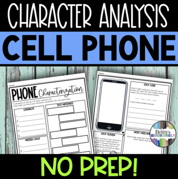 iPhone Characterization  Character Analysis Activity by Organized
