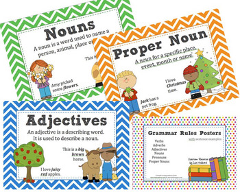Grammar Rules Posters with Word Examples -... by Classroom Resources by Lisa | Teachers Pay Teachers