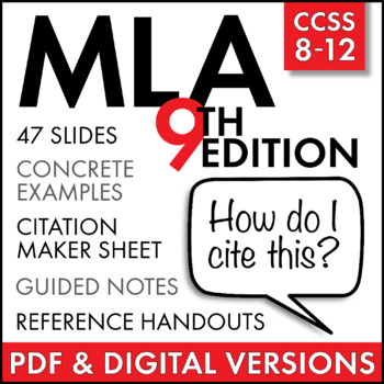 MLA Citation Lecture  Handouts, MLA 8th Edition, in-text citation