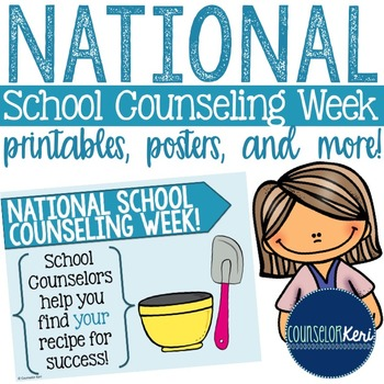 This National School Counseling Week printable pack includes-2 - certificates of appreciation