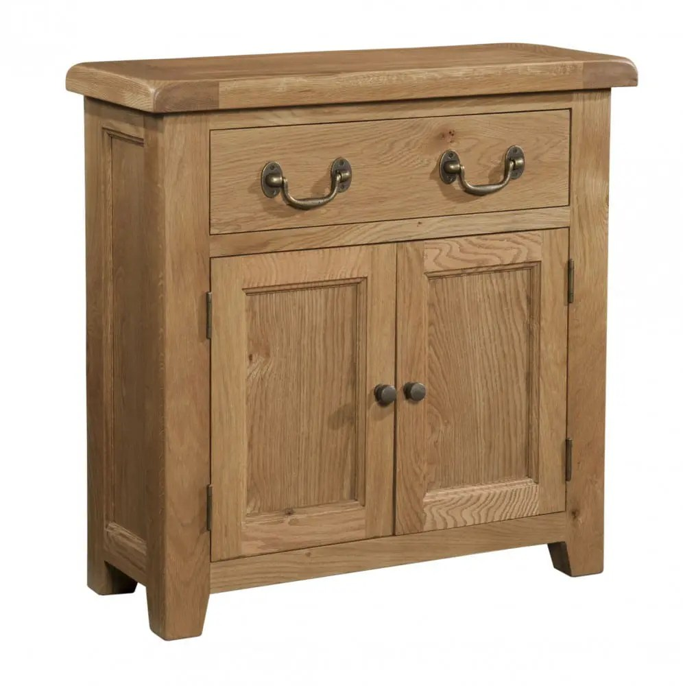 Kitchen Cabinets Newmarket Somerset Oak Small Sideboard - Edmunds And Clarke Furniture