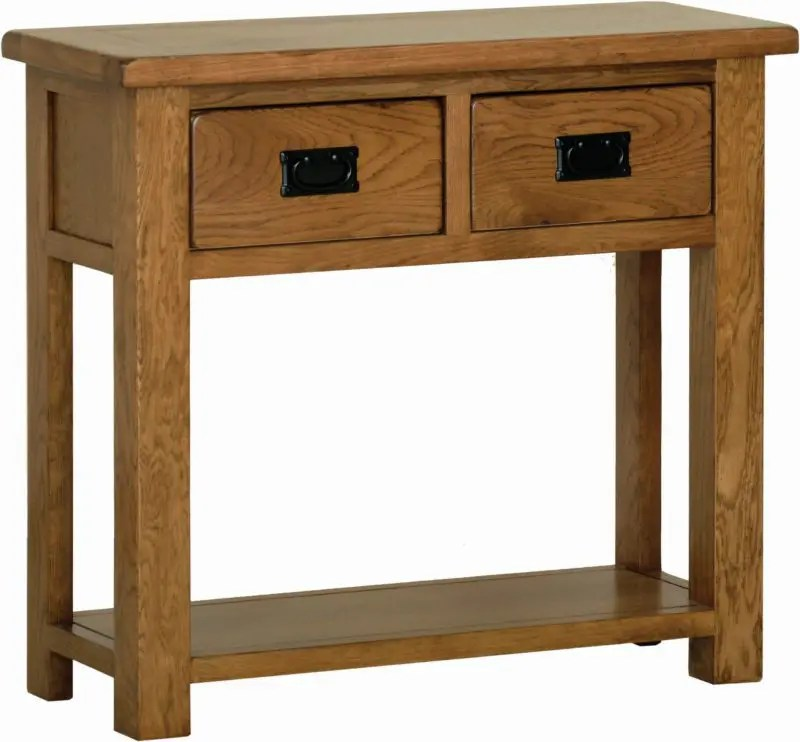 Kitchen Cabinets Newmarket Sudbury Oak 2 Drawer Console Table - Edmunds And Clarke