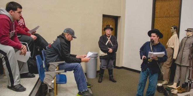 Civil War Reenactors Visit Campus