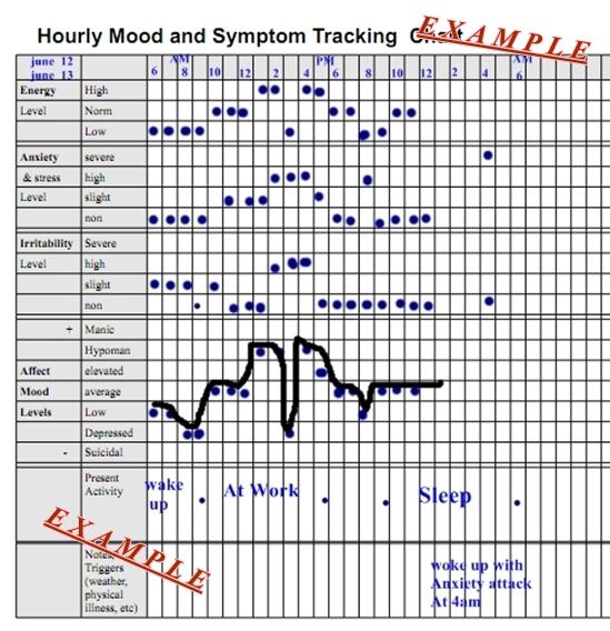 Hourly Mood and Symptom Chart Pennsylvania Echoes