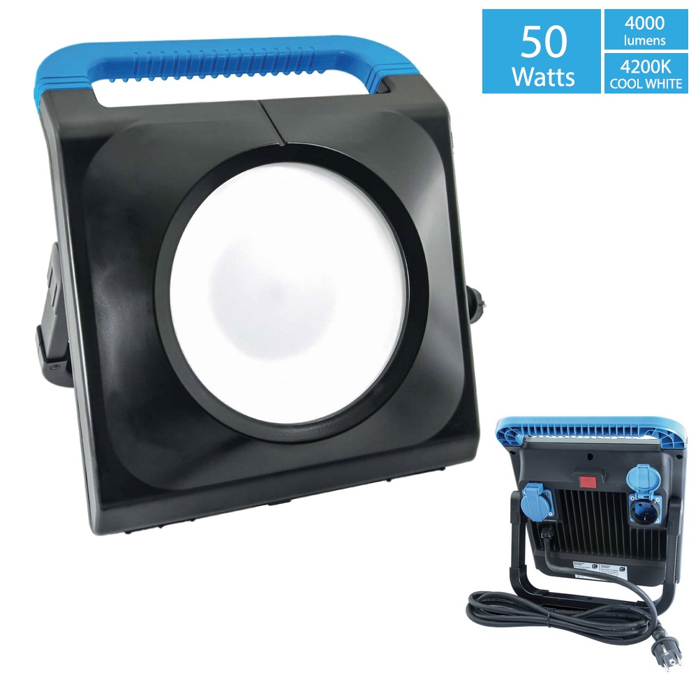 Eclairage Led Chantier Gladius 50w Projecteur De Chantier Led 50w 2 Prises 2p T
