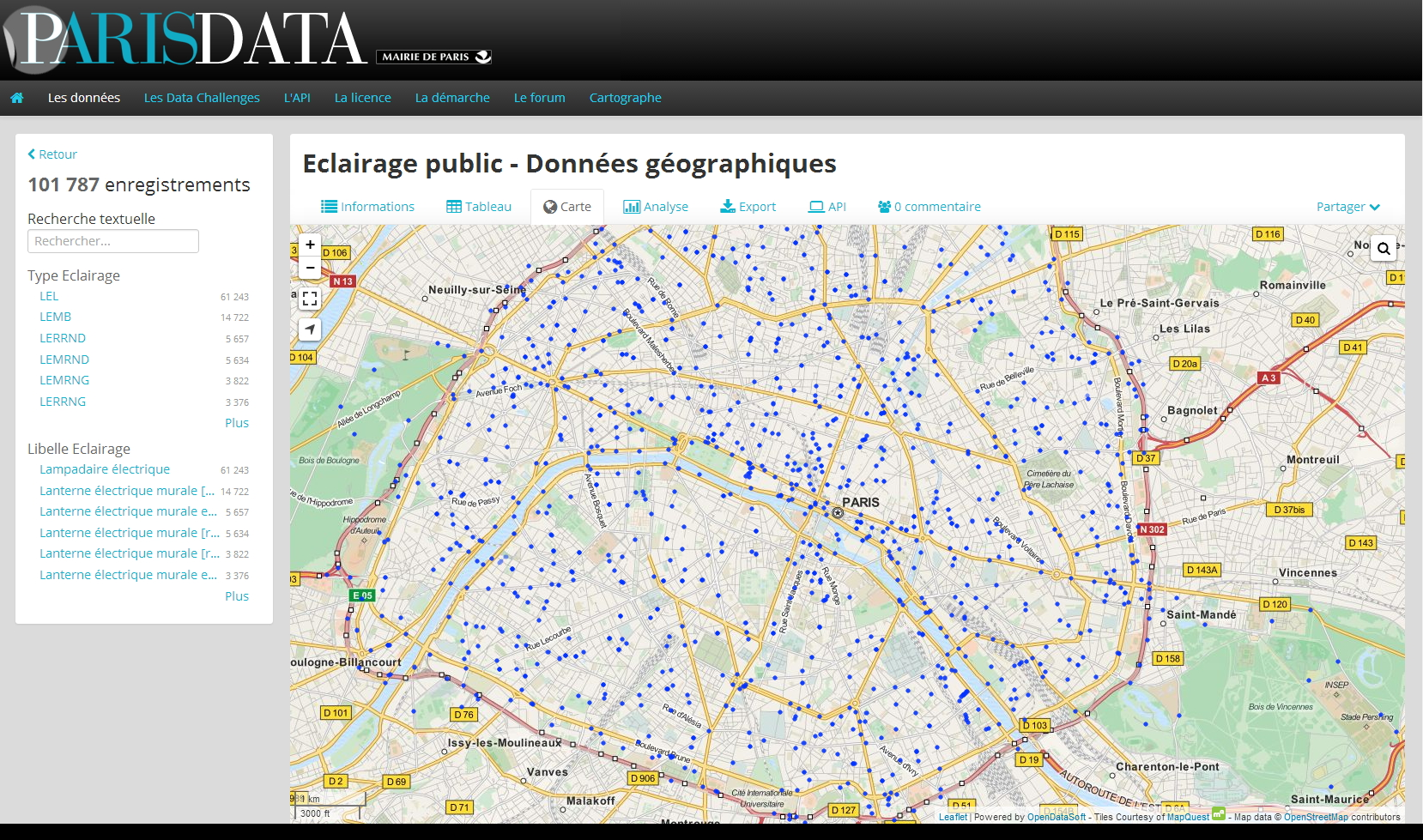 Lampe Led Eclairage Public À Paris Même Léclairage Public Est En Open Data