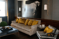 Grey Gold Living Room