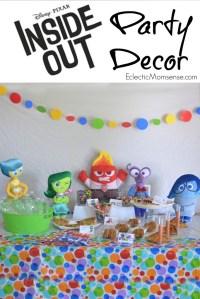Disney PIXAR Inside Out Party Ideas - Eclectic Momsense