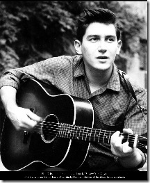 "Phil Ochs in his first publicity shot (1963, New York City).  ""Phil Ochs: There but for Fortune"", a film by Kenneth Bowser. A First Run Features release."