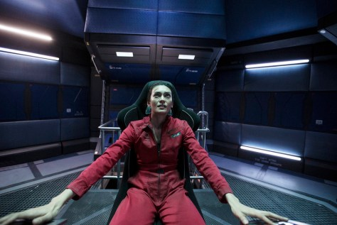 "THE EXPANSE -- ""Critical Mass"" Episode 109 -- Pictured: Florence Faivre as Juliette Andromeda Mao -- (Photo by: Rafy/Syfy)"