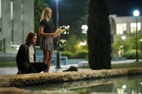 "THE MAGICIANS -- ""Consequences of Advanced Spellcasting"" Episode 103 -- Pictured: (l-r) Jason Ralph as Quentin, Olivia Taylor Dudley as Alice -- (Photo by: Carole Segal/Syfy)"
