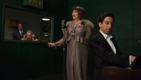 (L-R) Hugh Grant as St Clair Bayfield, Meryl Streep as Florence Foster Jenkins and Simon Helberg as Cosme McMoon in FLORENCE FOSTER JENKINS by Paramount Pictures, Pathé and BBC Films