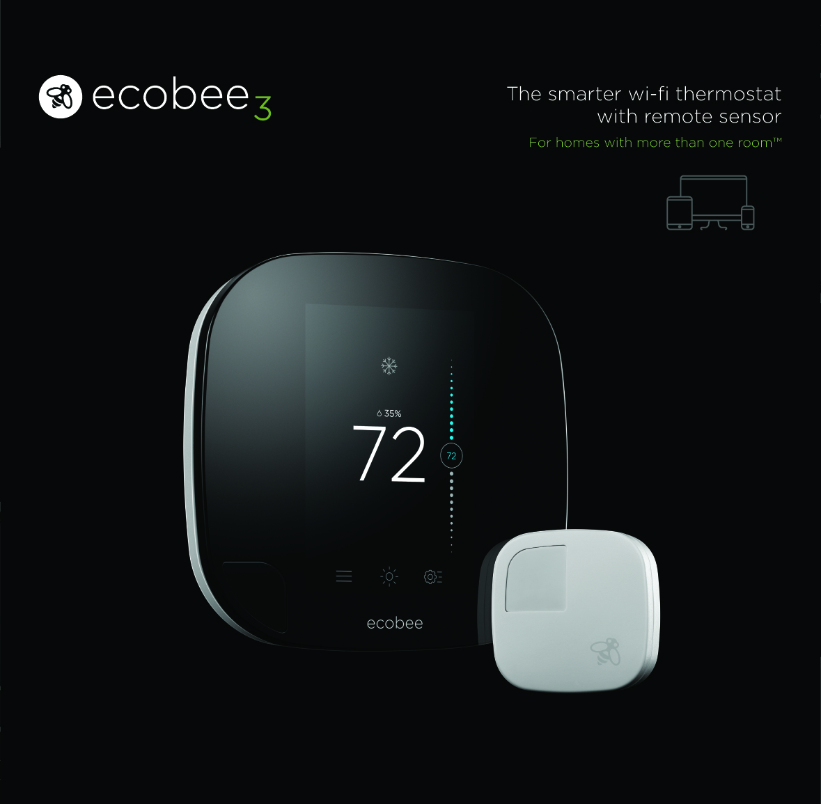 Ecobee Sensor Introducing Ecobee3 With Wireless Remote Sensors Ecobee Smart