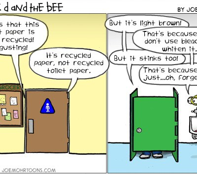 Hank D and the Bee: Recycled Poo-per?!