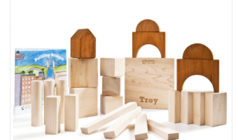 My New Favorite Eco-Friendly Toy:  Larsen Toy Lab Building Bridges Wooden Blocks