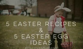 5 Easter Recipes & 5 Easter Egg Ideas for Spring