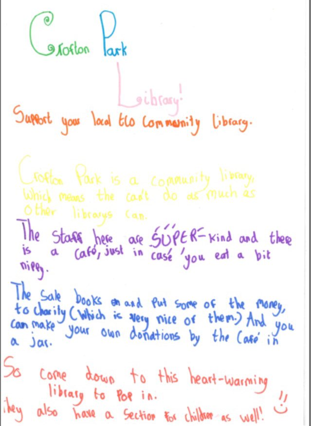 Child Library Letter \u2013 Eco Communities - child letter