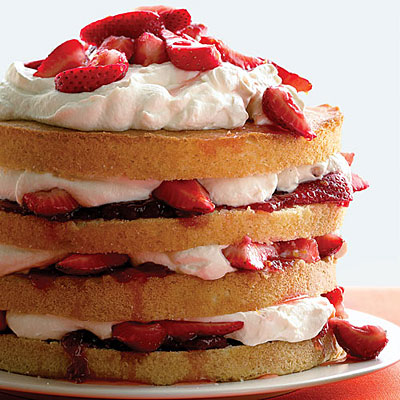 Paleo Strawberry Shortcut Cake