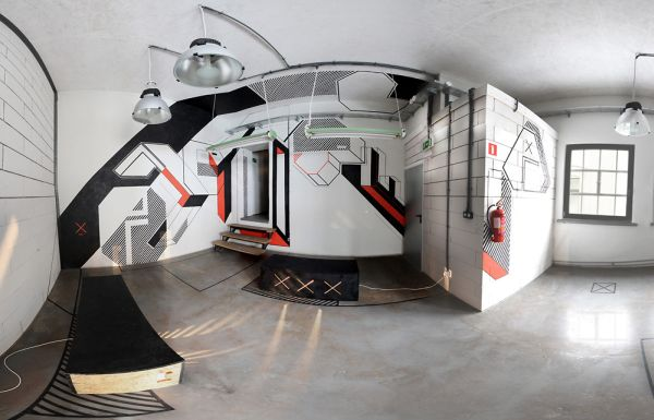 An Office Transformed With Just 3,000 Feet Of Tape On The Walls