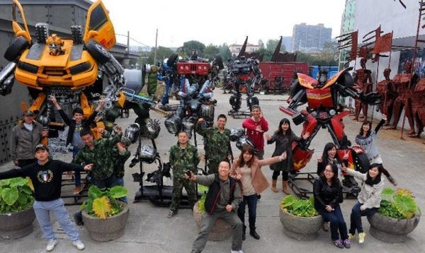 Chinese Artist Creates Transformers Theme Park