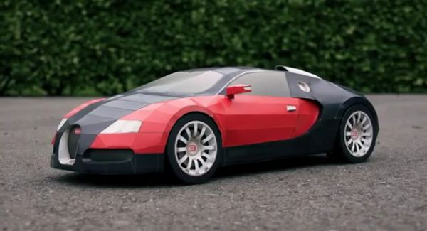 Deft designer builds replica of $1.6M car using only paper
