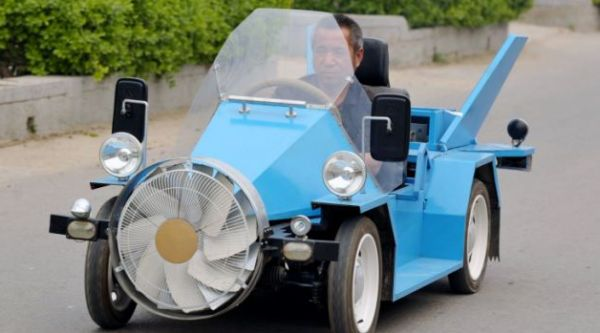 Farmer builds wind-powered car that can reach nearly 90mph