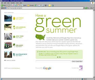 google goes green