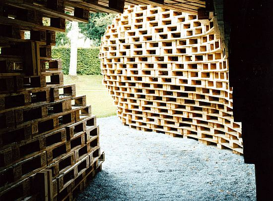 palletpavillion pallet house by matthias loeberman