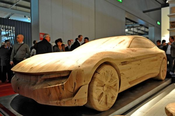 Pininfarina Cambiano carved from wood
