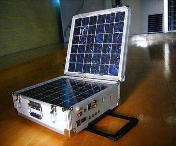 Portable solar power plant
