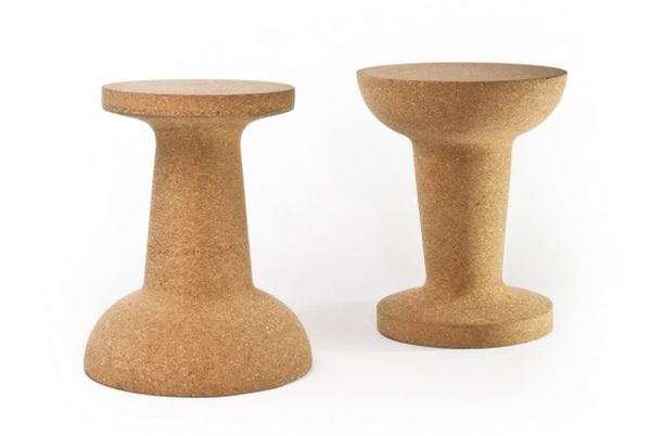 Pushpin cork stool by cooima design