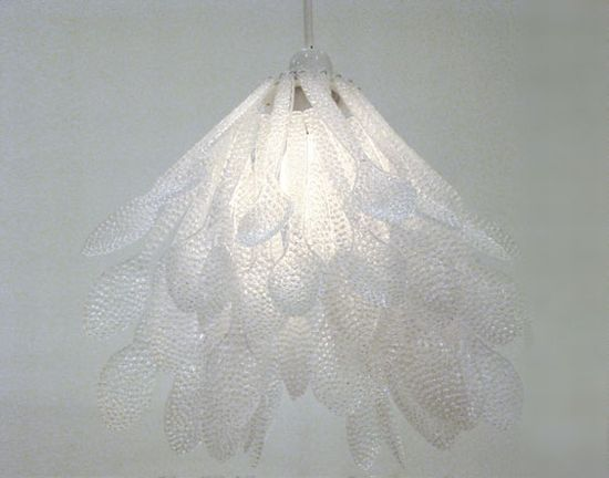 recycled plastic spoon chandelier y6rlx 5638
