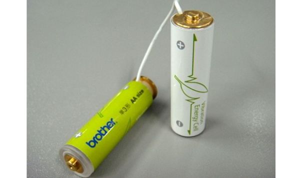Self-Charging Batteries Powered by Vibration
