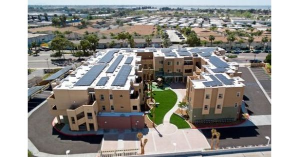 Solar powered apartment complex