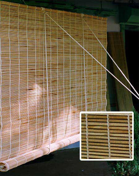Window screen made of bamboo sticks