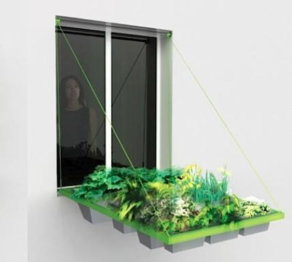 Creative folding window gardening system