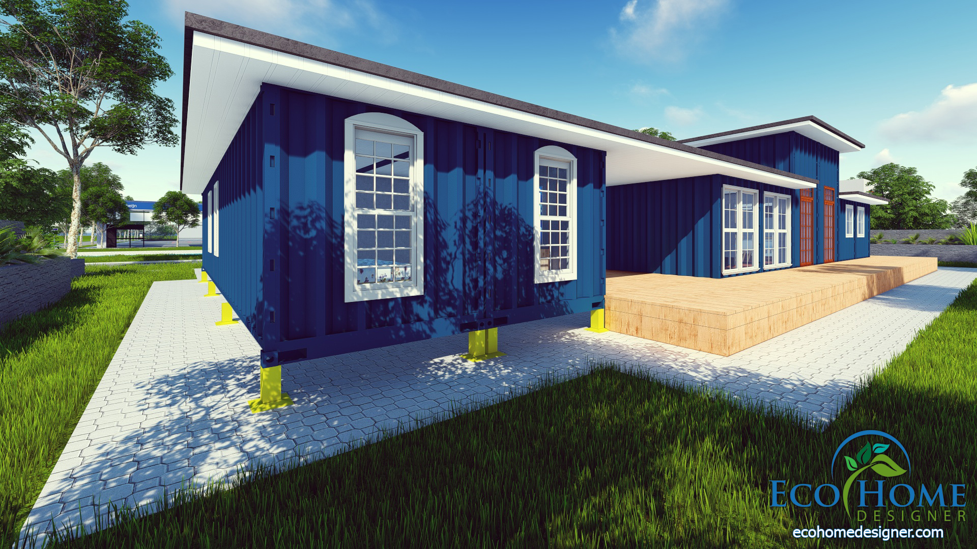 Container Haus Plan Sch9 8 X 40ft Container House Andejong Design Eco Home