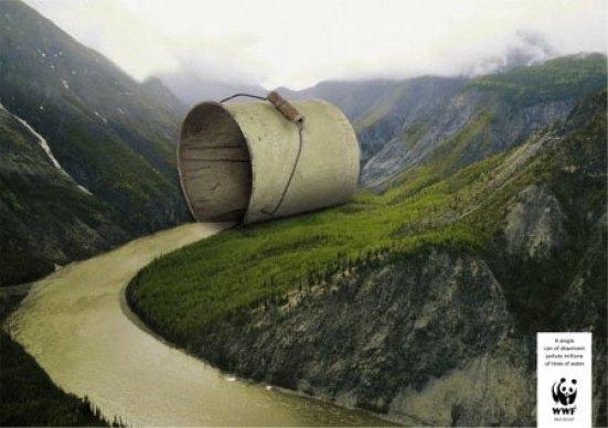 Un solo recipiente de pintura puede contaminar millones de litros de agua