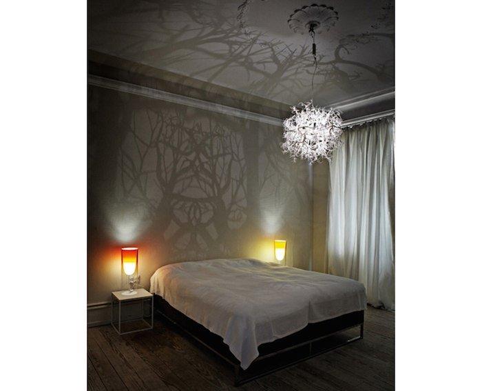 Incre ble l mpara transforma cualquier habitaci n en un bosque - Schlafzimmer tischlampe ...