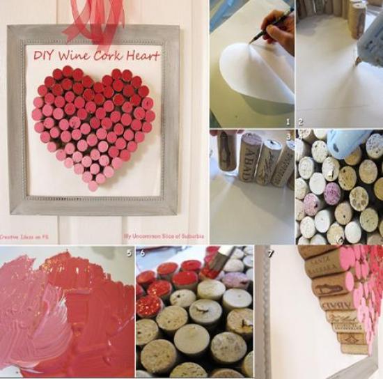 corazon con tapones de corcho San Valentin