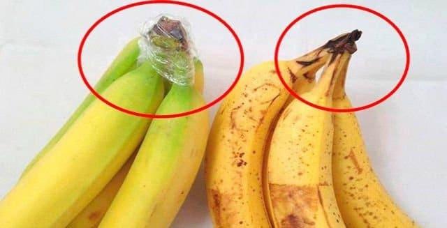 simple truco para mantener las bananas frescas