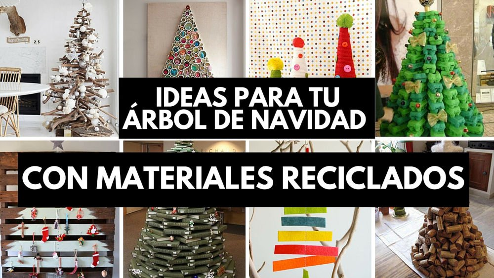 31 ideas para tu rbol de navidad con materiales reciclados - Arbol tipico de navidad ...