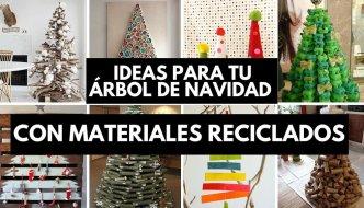 31 ideas para tu árbol de navidad con materiales reciclados